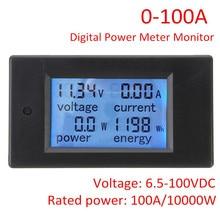 100a 10000 w dc 디지털 다기능 전력계 에너지 모니터 전력 에너지 전압계 모듈 50a 션트가있는 전압계 전류계