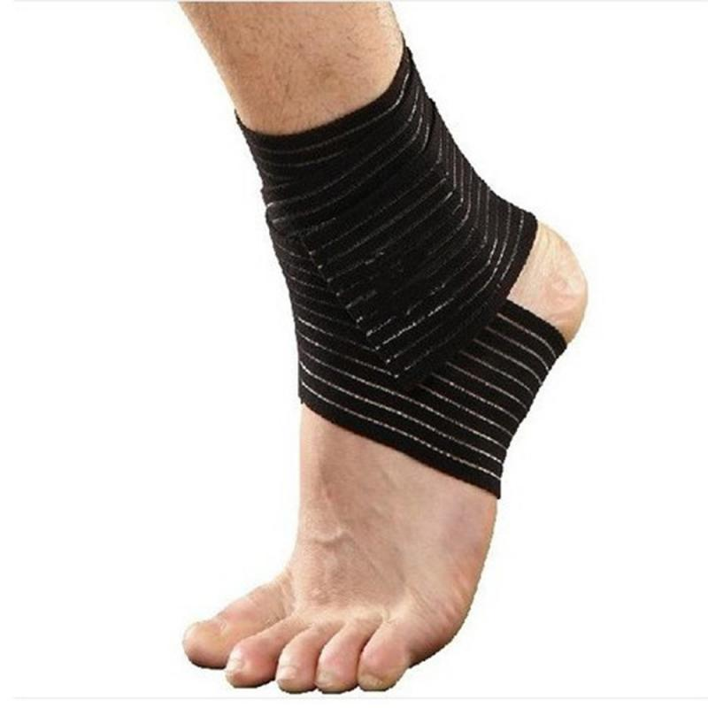 2Pcs Black Ankle Support Wrap Sport Bandage Compression Strap Elbow/Knee/Wrist Hand