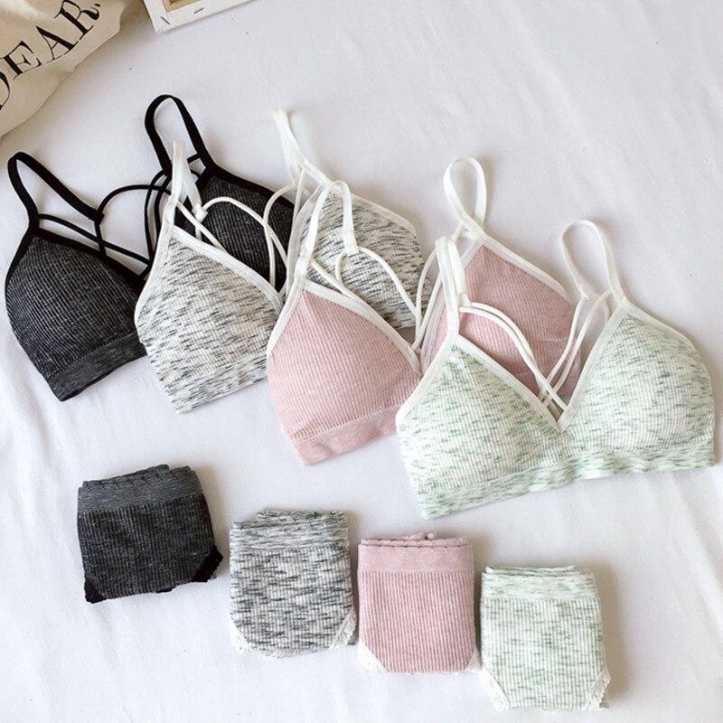 Women Bra Set Wireless Bra And Panties Underwear Set Comfort Active Bra Seamless Women Lingerie Set