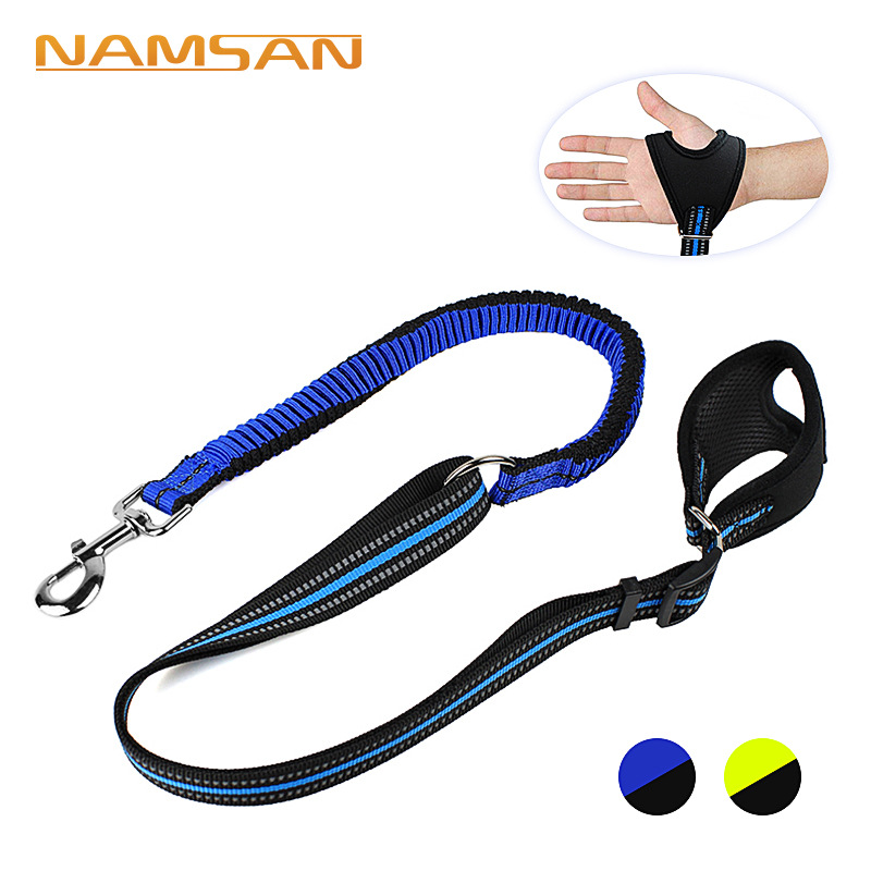 Pet Supplies Reflective Comfortable Handle Extendable Sling Dog Item Round Slings Hand Holding Rope