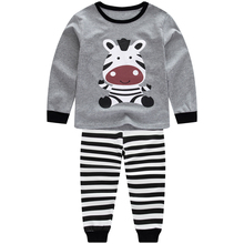 kids pajamas boys clothing baby for Girls  Pajamas Zebra Children Unicorn Cartoon Clothing Baby