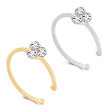 1PC Zircon Flower 925 Sliver Round Nose Ring Hoop Nostril Rings Body Piercing Jewelry Tragus Stud Cartilage Helix Earring boako 1pc nose hoop nostril ring flower helix cartilage tragus nose jewelry zircon earring rings body jewelry fake piercing b40