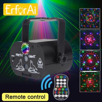 Mini RGB światło dyskotekowe projektor laserowy impreza z dj-em stroboskop LED lampa USB akumulator oświetlenie do klubu nocnego efekt lampa urodzinowa tanie i dobre opinie ErforAi CN (pochodzenie) Stage lighting effect Dmx etap światła 104185 100-240v Profesjonalne stage dj black manual remote
