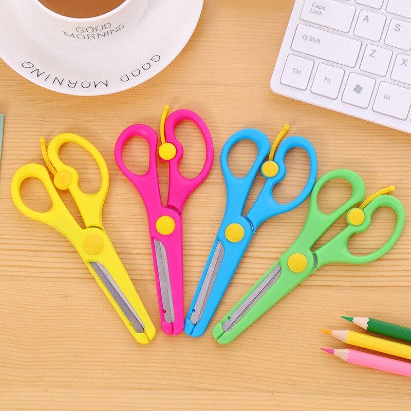 DIY Paper-cut Plastic Small Scissors For Children Kindergartens Primary Students Safe Paper Cutter Cute Scissors