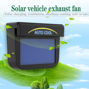 Sun Power Car Fan Air Vent Cool Cooler Ventilation System Radiator Exhaust Heat Auto Fan Solar Car Window Cooling Fans(China)