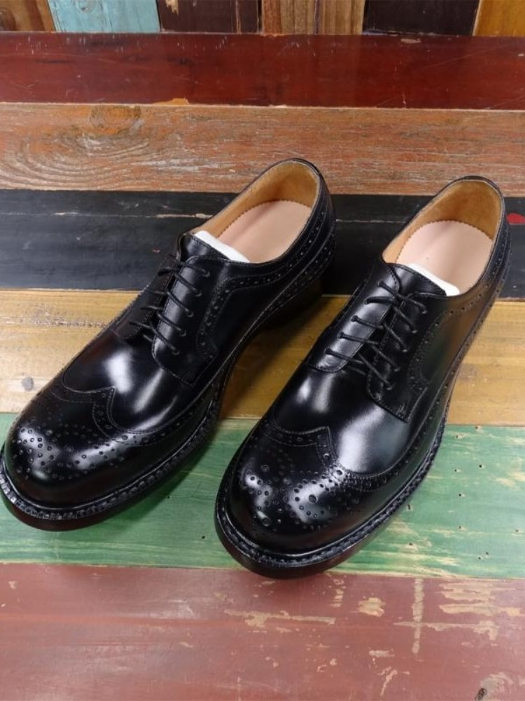 Vintage Carved Brogue Shoes Men Handmade Business Genuine Leather Cowhide Oxfords Shoes Mens Large Size 45 46 Formal Dress Shoes