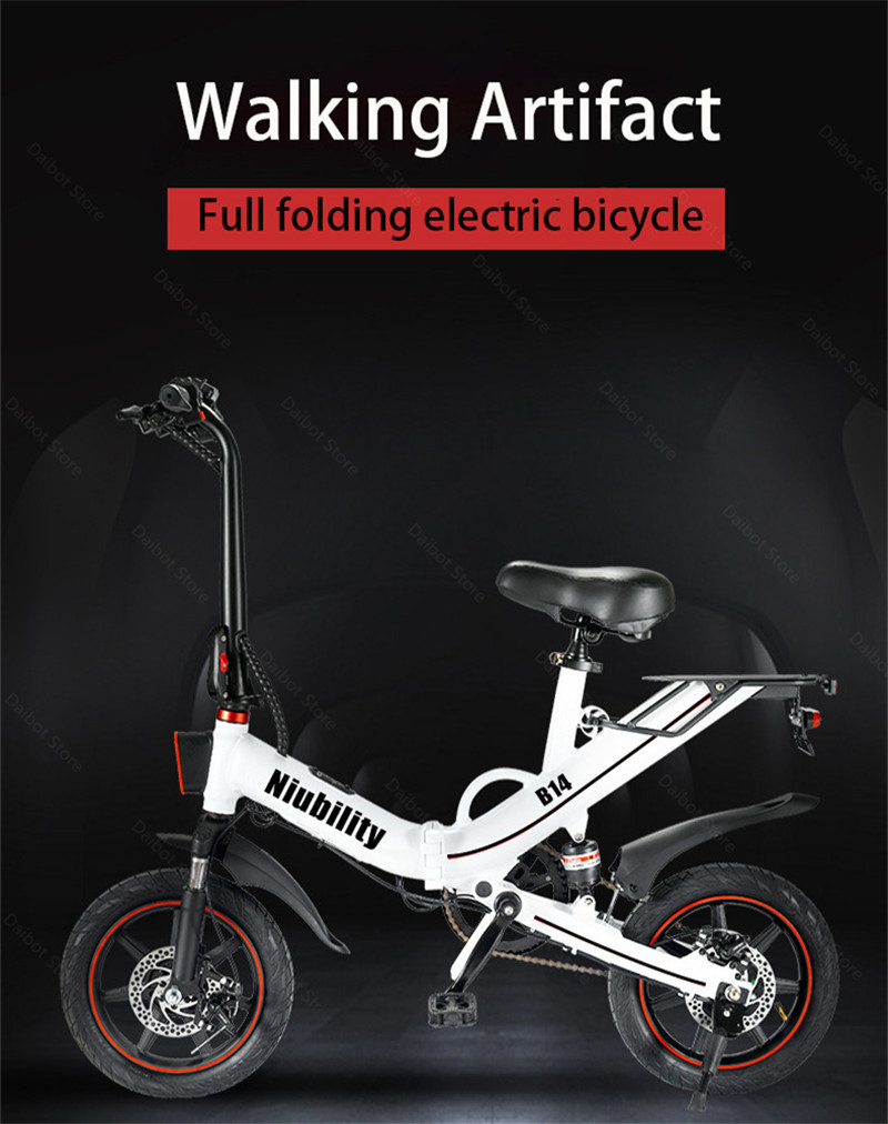 EU Stock Folding Electric bike 2 Wheels Electric Bicycles 14 Inch 400W 48V 15Ah Adult Electric Bicycle With Double Brake (6)