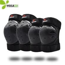 WOSAWE Adult Flexible Knee Protector Snowboard Skateboard Ski Roller Hockey Hard Protection Shell EVA Foam Sport Elbow Brace Pad