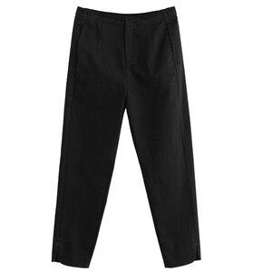 Image 5 - INMAN 2017 hiver nouveauté couleur Pure décontracté jambe droite maigre noir crayon pantalon
