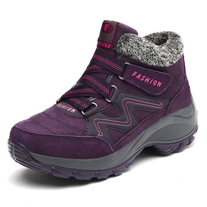 Image 2 - Caminhadas sapatos para mulher de couro real antiderrapante ao ar livre caminhadas botas sapatos de trekking à prova dwaterproof água esporte tênis de acampamento sapatos esportivos