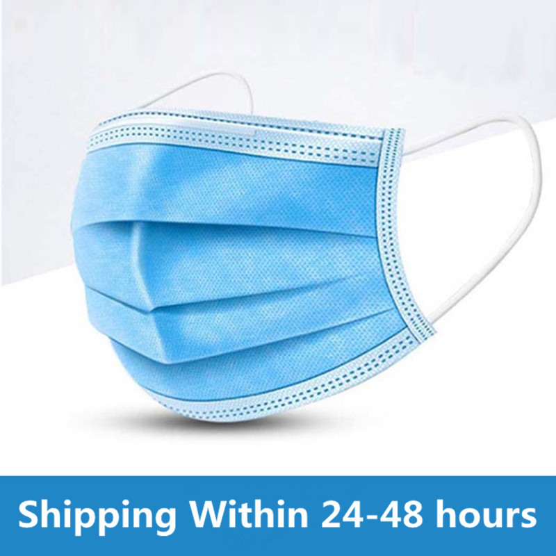 In Stock Fast Ship 3 Layers Anti Virus Anti Dust Dustproof Disposable Earloop Face Mouth Masks Facial Protective Cover Masks Masks     - title=