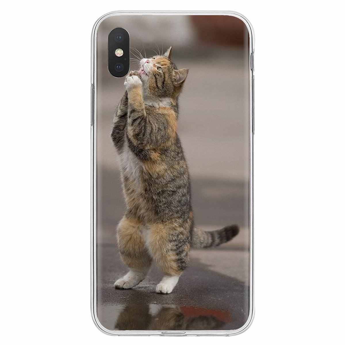 Dla Sony Xperia XA Z Z1 Z2 Z3 Z5 XZ1 XZ2 kompaktowy M2 M4 M5 C4 C6 E3 T3 dość modląc się kocięta koty plakat Z nadrukiem futerał silikonowy TPU