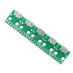 5 sztuk Micro USB do DIP Adapter złącze płyta modułu panelu kobiet 5-Pin tablica korkowa zmienia 2.54mm mikro USB PCB