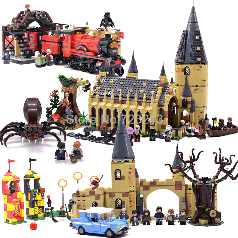Castle School Express Train Castle Hall Fantastic Beasts Whomping Willow Building Block Bricks Set Toys image