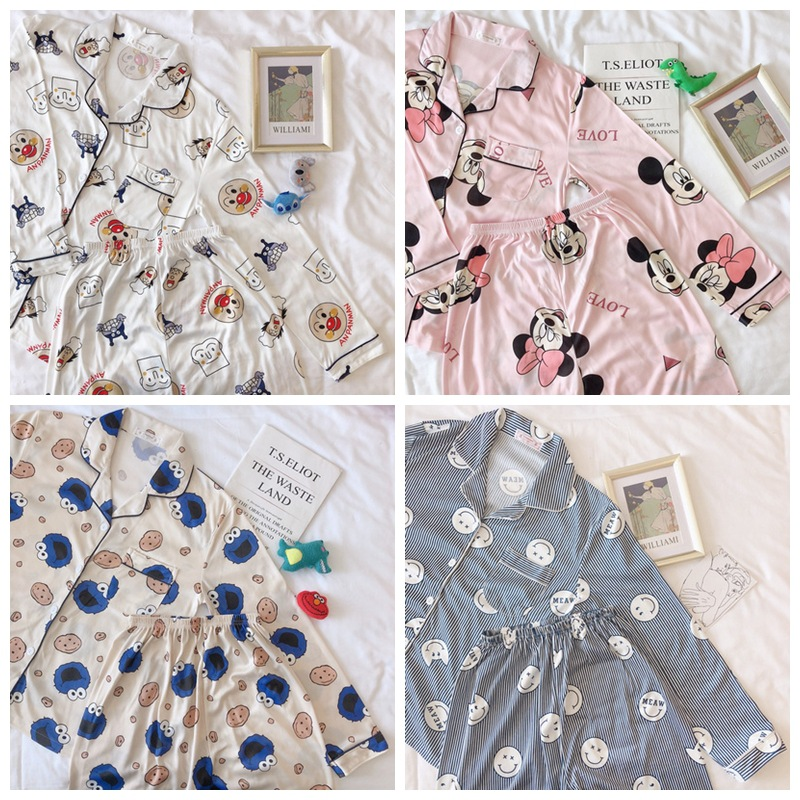 Spring, Autumn And Winter New Style Korean-style Fashion Cardigan Home Pajamas Women's (Cartoon Family 4 #)