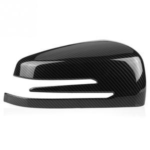 Image 5 - 2pcs Carbon Fiber Side Rearview Mirror Cap Cover Trim for Mercedes Benz A B C E GLA Class W204 W212 ABS Plastic Car Accessories