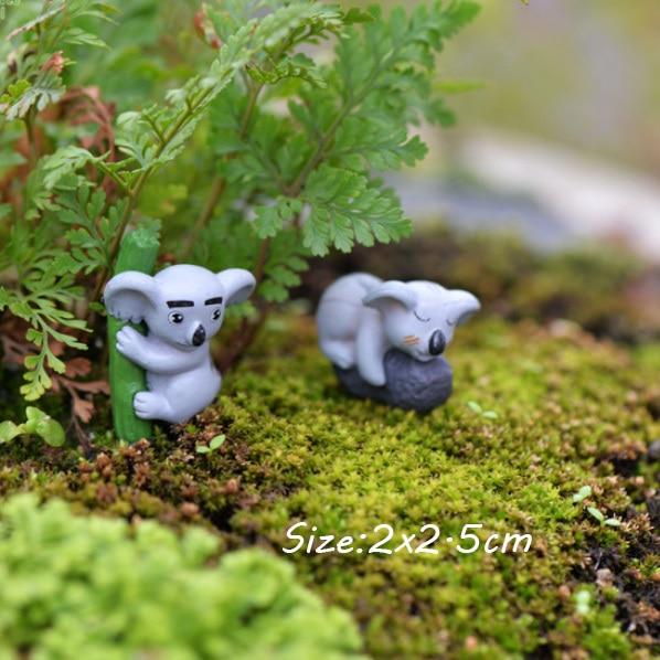 Baiufor 2pcs Lot Miniatures Fairy Garden Decor Diy Terrarium