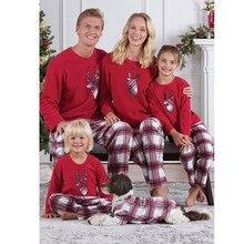Family Match Christmas Pajamas Set Cartoon Deer Mum Dad Kid Baby Sleepwear Nightwear Homewear Matching Pjs C0556