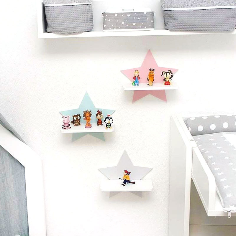 European Style Baby Room Splicing Shelf Toy Kids Room Wall Decoration Fashion Toys Storage DIY Assembled Hanging Shelfs Racks