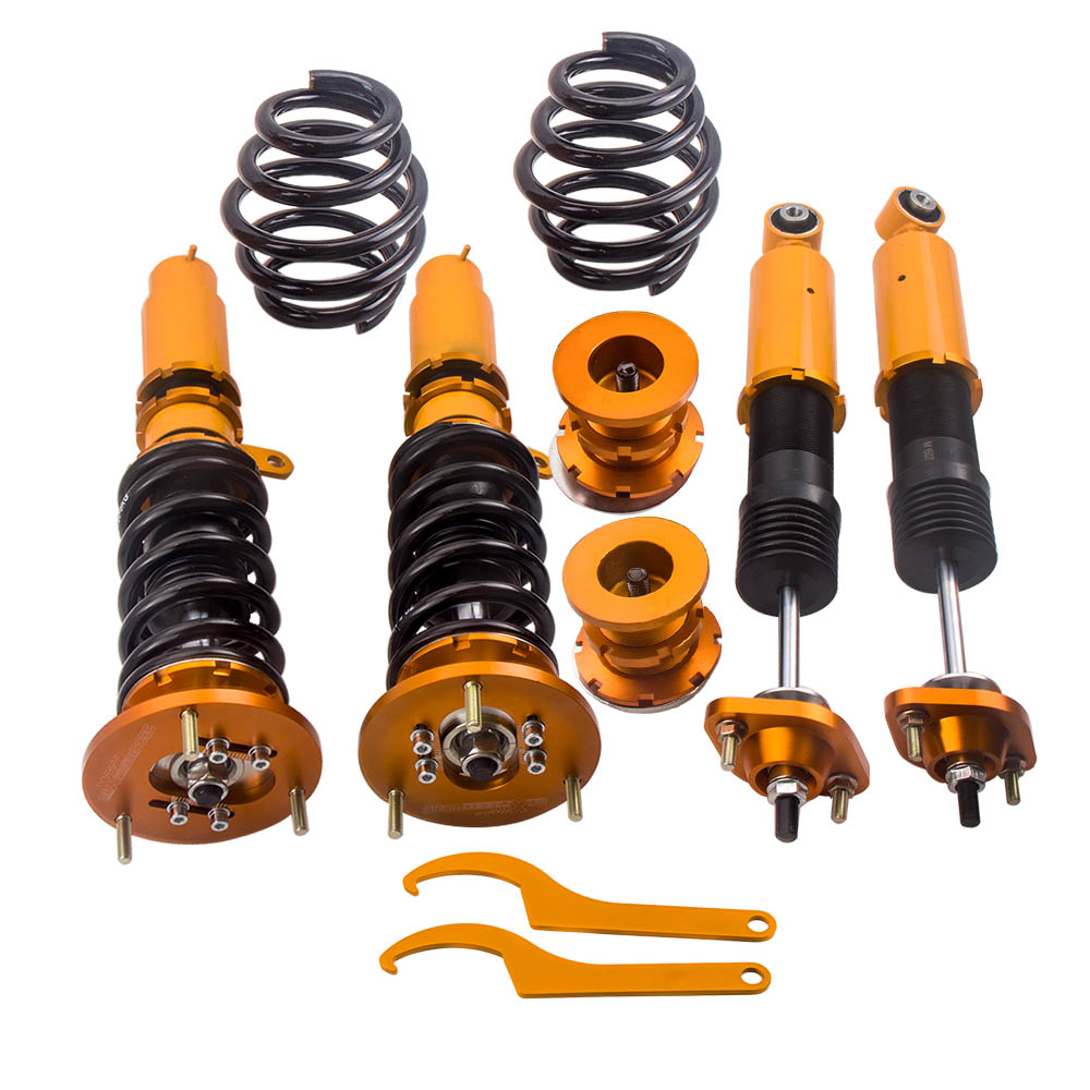 Coilovers Coilover Suspension jambe de force Kit pour BMW E46 3 série 98-06 M3 323Ci 325 328Ci 330Ci berline coupé Coilovers jambe de force choc