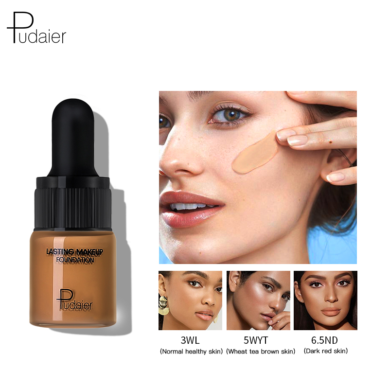 Pudaier 40color Face Foundation Makeup Trial Pack Liquid Foundation Cream Matte Foundation Base Face Concealer Cosmetic Dropship image