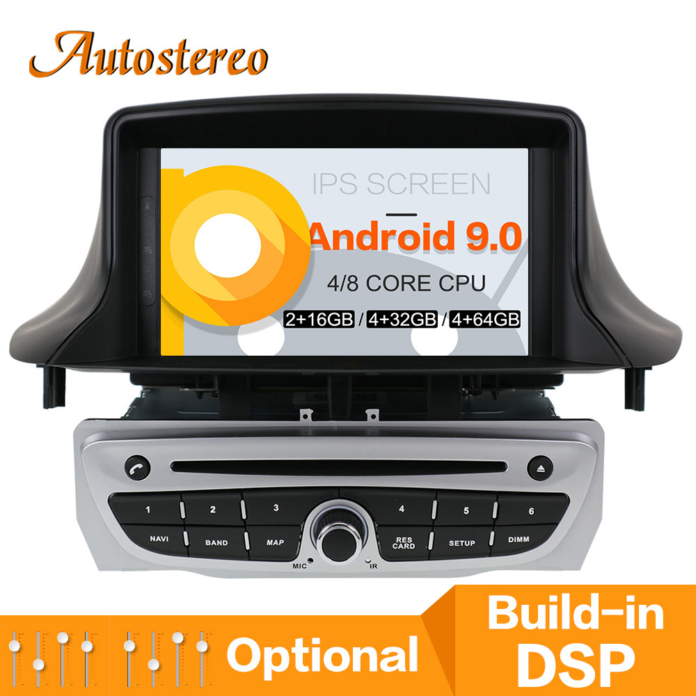 <font><b>Android</b></font> 9.0 PX6 DSP Car DVD Player GPS Navigation For Renault <font><b>Megane</b></font> <font><b>3</b></font>/Renault Fluence 2009+ Multimedia Player Auto Stereo Radio image