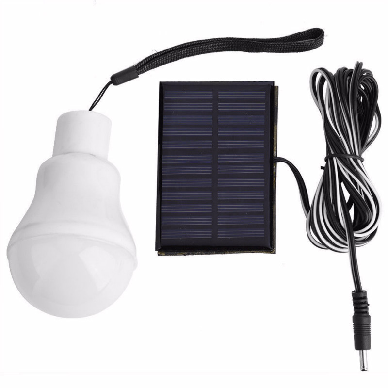 Separable LED Solar Light With Wire,solar Panel Powered Emergency Bulb 110LM Sunlight Powered Lamp For Outdoor Garden Lighting