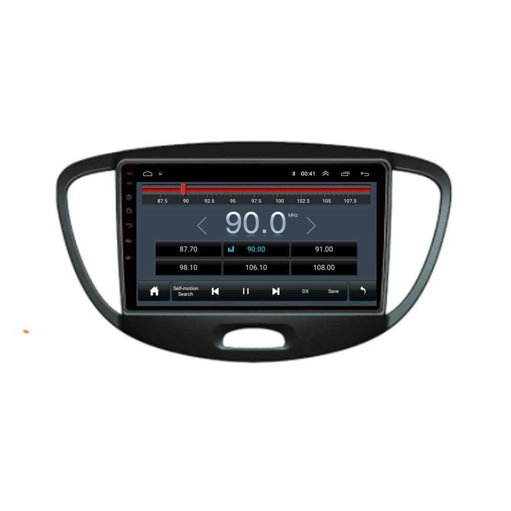 4G LTE Android 10.1 สำหรับ HYUNDAI I10 2007 -2013 สเตอริโอมัลติมีเดียเครื่องเล่นดีวีดีรถยนต์ระบบนำทาง GPS วิทยุ