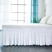 Юбка-кровать белая обмотка вокруг эластичных рубашек кровати без поверхности кровати Твин/Полный/queen/King размер 38 см рост домашнего использования отеля