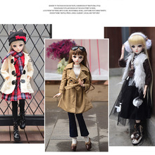 Fashion BJD Doll 60cm DIY Dolls Casual 18 Ball Jointed DIY BJD Dolls with Winter Clothes Outfit Shoes Make up Dolls for girls