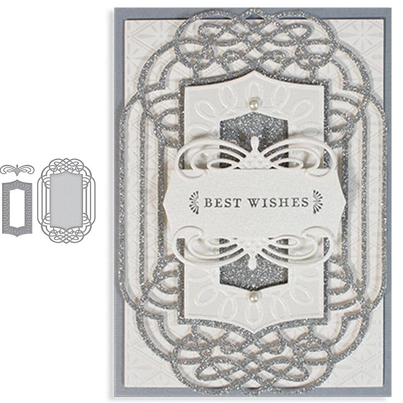 Useful Vintage Border Metal Cutting Dies Scrapbooking Album Embossing Paper Card