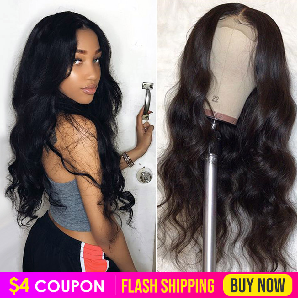 Lace Front Human Hair Wigs Pre Plucked Body Wave Wig 13x4 8-26 Inch 150% Peruvian Remy Hair Lace Frontal Wigs For Black Women
