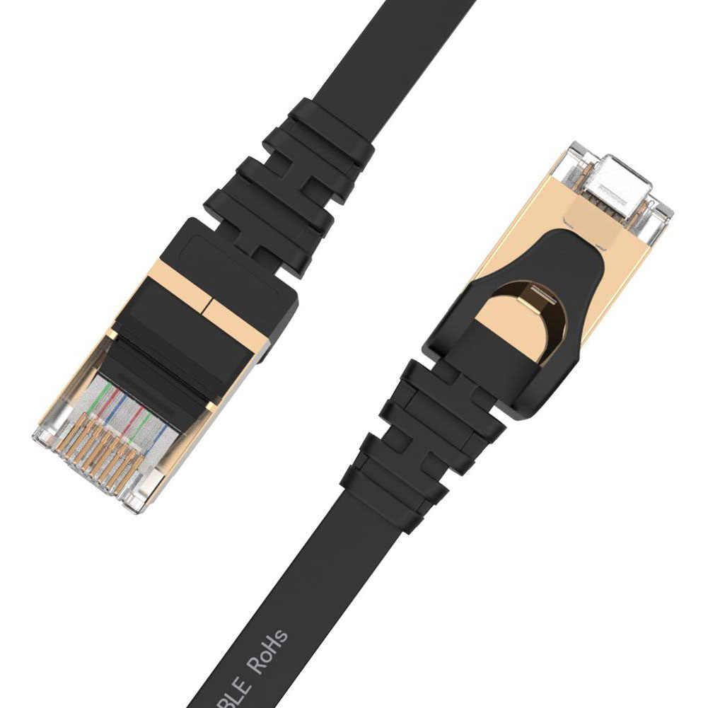 Cat 7 korumalı Ethernet RJ45 ağ kablosu Cat7 düz Ethernet Patch kabloları Modem, yönlendirici, LAN, PC 1m 2m 3m 5m 10m 20m 30m