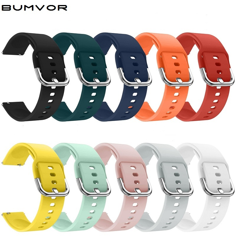 20mm 22mm Silicone Watchband For Samsung Galaxy Watch Active 42mm Gear S2 Sport Replacement Bracelet Band Strap For Gear S3 R380