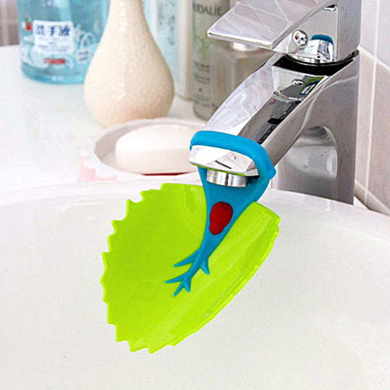 Water Faucet Tap Extender Cute Bathroom Sink Faucet Chute Extender Crab <font><b>Children</b></font> Kids Washing Hands Convenient for <font><b>Children</b></font> image