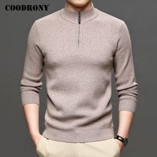 COODRONY Brand Turtleneck Sweater Men Clothing Autumn Winter Thick Warm Jumper Zipper Sweaters Causal Knitted Pullover Men C1189