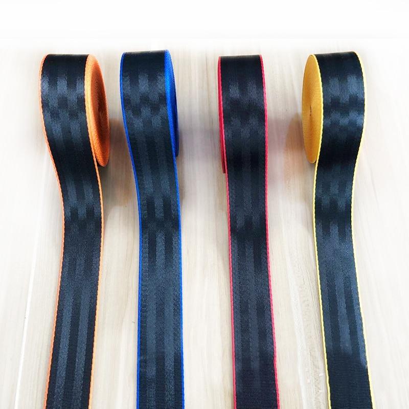 Joormom 30Meter Doublecolor Car Seat Belt Webbing Universal Car Personalized Modification Seat Belt Webbing Car Accessories