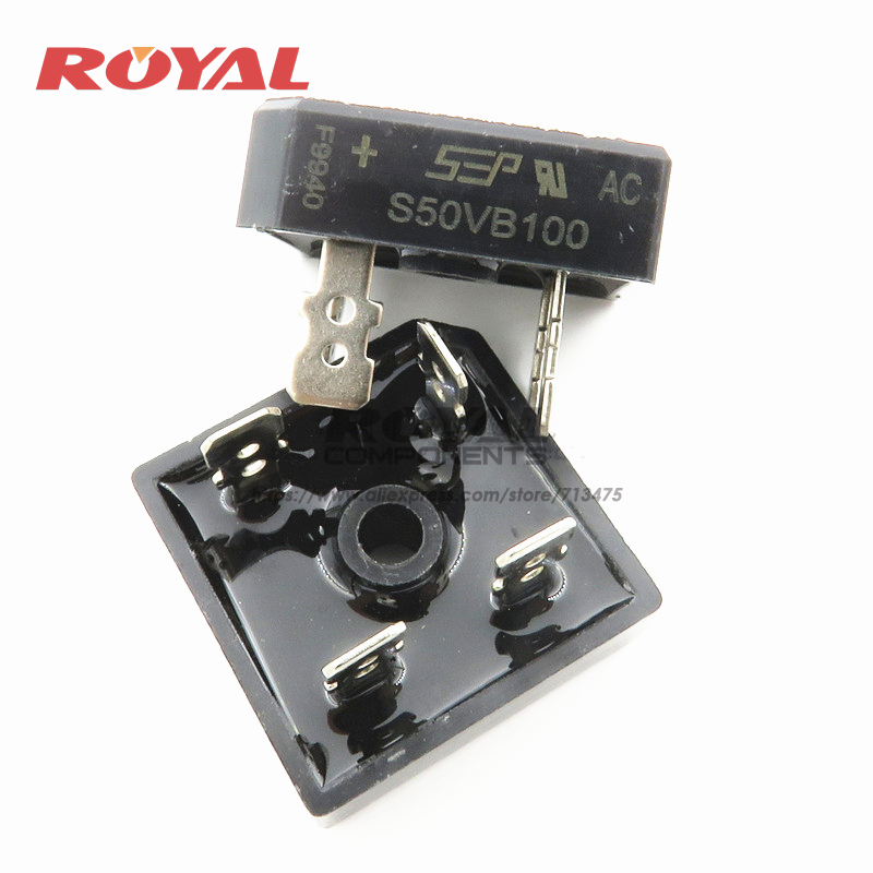 10PCS/LOT S50VB100  NEW AND ORIGINAL 50A 1000V Commonly Used Inverter Welding Machine Rectifier Diode