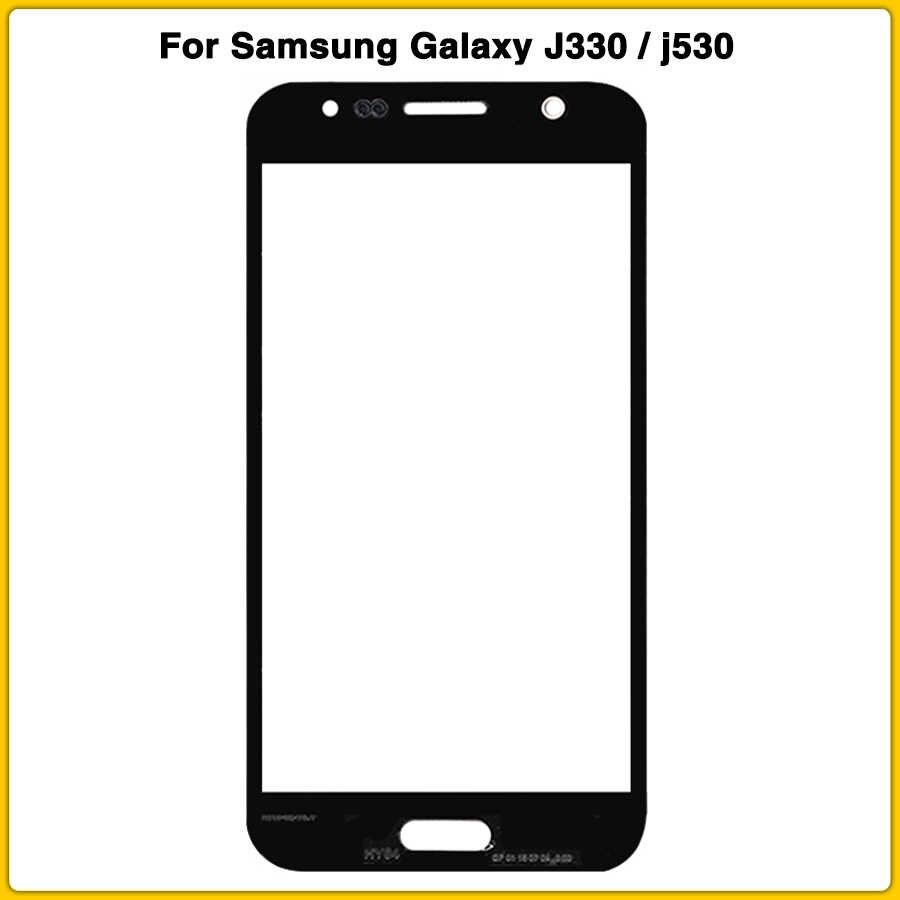 جديد J330F LCD عدسة زجاجية أمامية لسامسونج غالاكسي J3 j5 2017 J330 J530 J530F نسخة lcd الاستشعار الأمامي زجاج عدسة اللوحة الخارجية