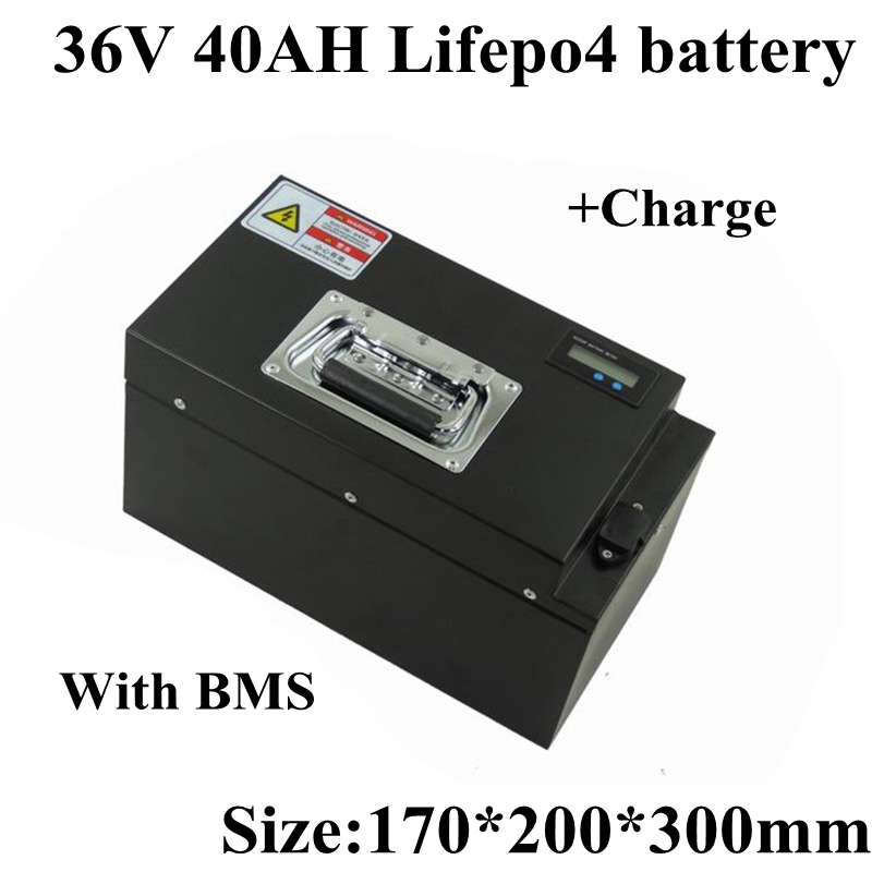 Customized 36v 40ah Lifepo4 Battery Pack Steel Case Built-in BMS Lithium Battery for 36v 2000w Electric Fishing Boat Cruise