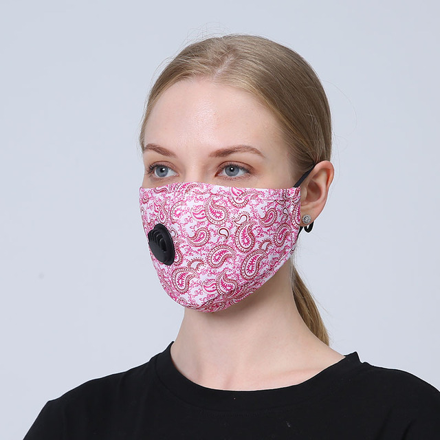 3set Anti Flu Totem Mouth Mask Fashion Reusable Dustproof Face Mask Breathable With Fliter Pad Warm Mouth fabric Mask 2