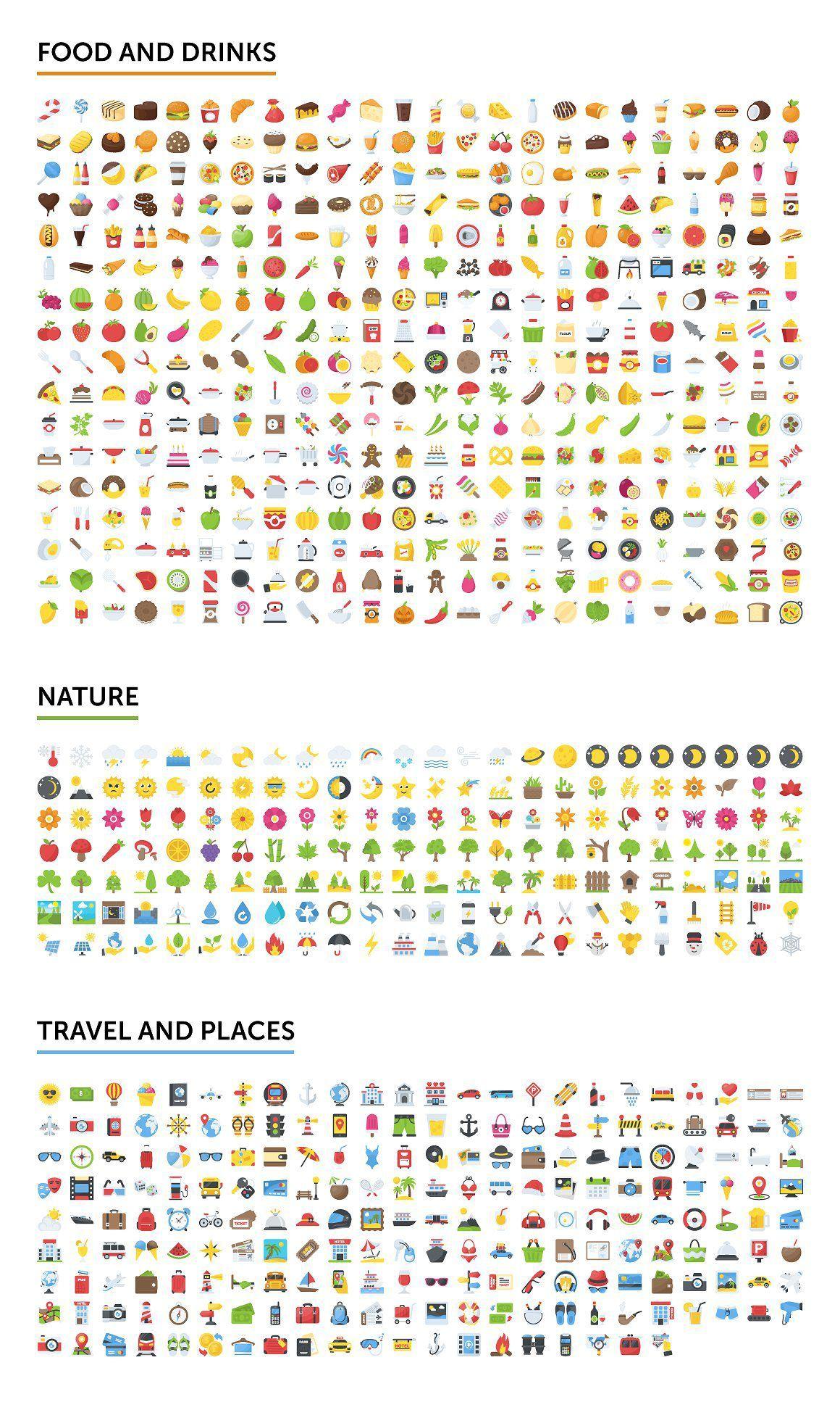 矢量图形-2500个表情符号emoji图标合集打包下载 格式AI,EPS,SVG,PNG,PDF,JPG(6)