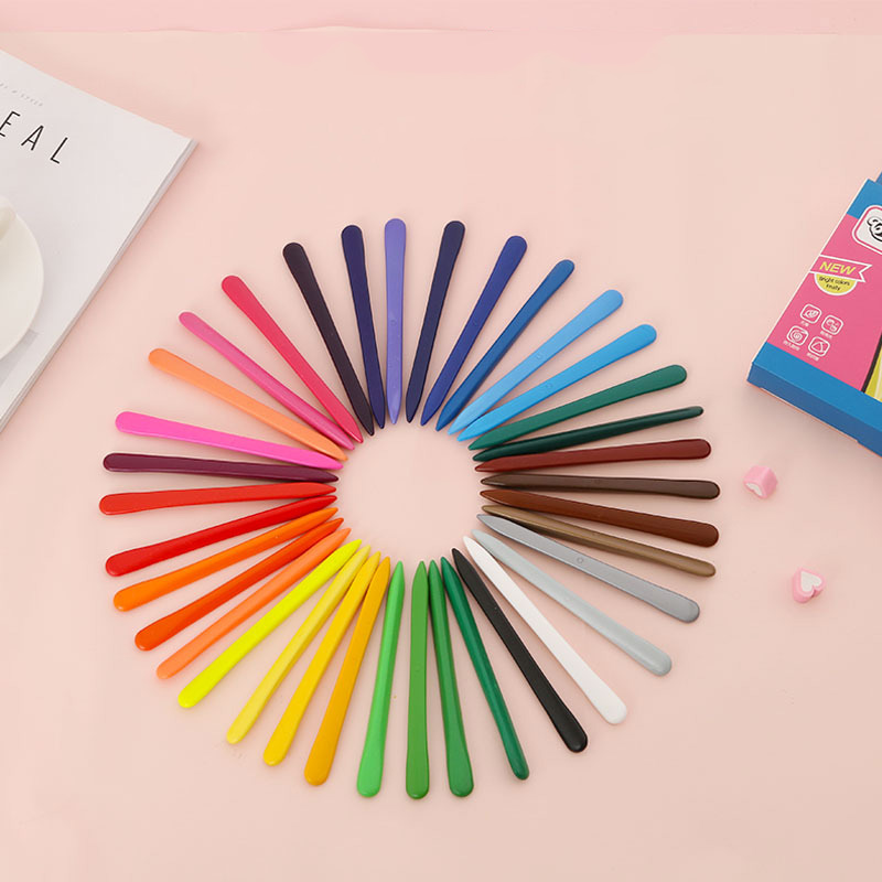 36 Colors Triangular Crayons Triangular Colouring Pencil for Students Kids Children PAK5
