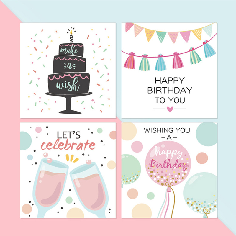 happy birthday greeting card cute cartoon children birthday party invitation letter card blessing card with envelope for kids