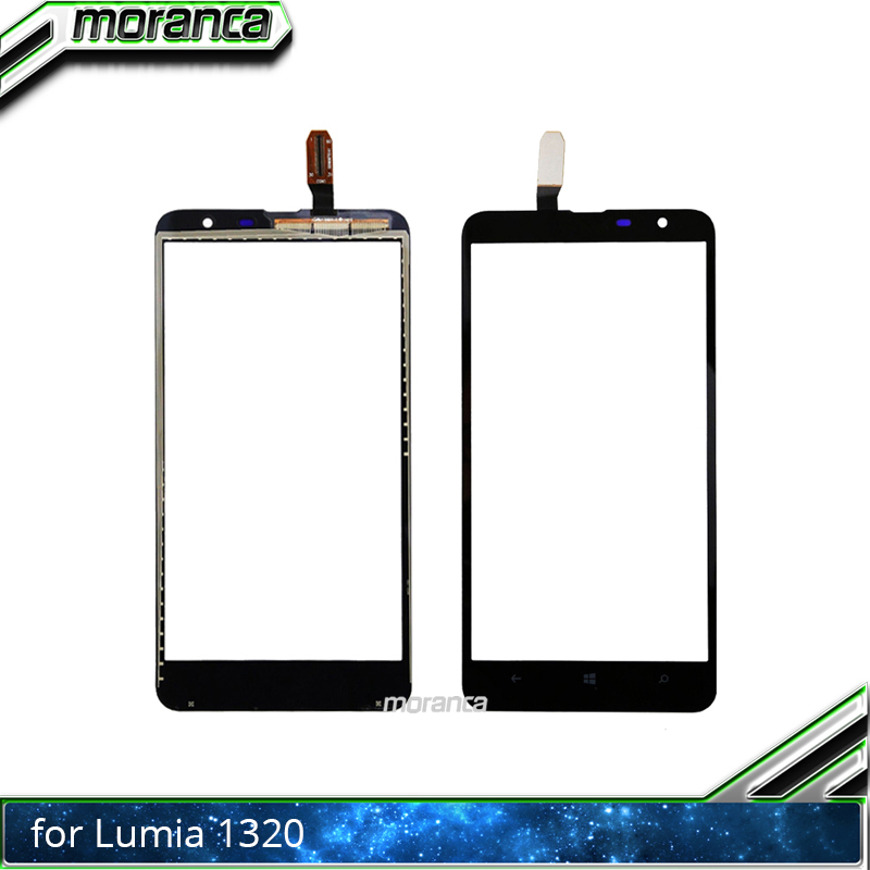 6.0'' <font><b>1320</b></font> Touchscreen Touch Panel for <font><b>Nokia</b></font> Lumia <font><b>1320</b></font> N1320 Touch Screen Digitizer Sensor Lens Front Glass Black Replacement image