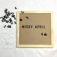 Войлочная доска для писем, деревянная рамка, сменные символы, цифры, доски для сообщений для домашнего офиса MDJ998