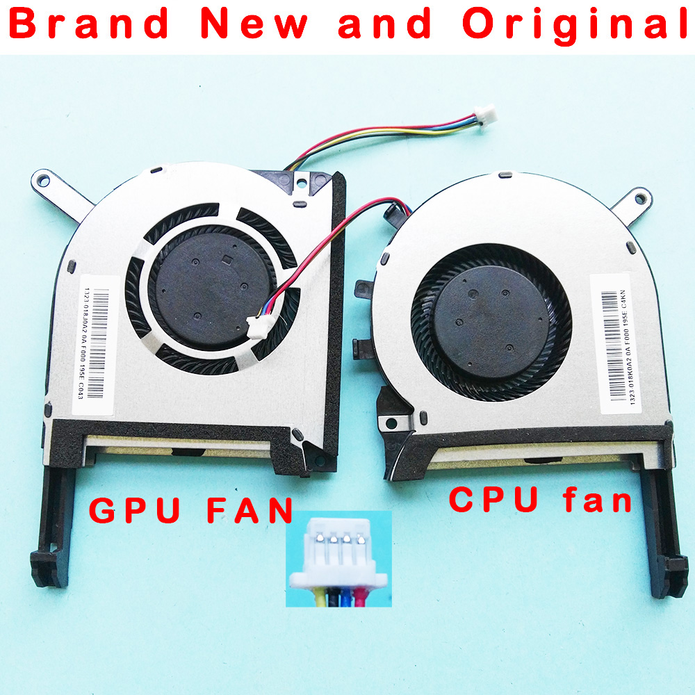 Original novo GPU CPU laptop refrigerador ventilador de refrigeração para ASUS FX705 FX705G FX705GM FX86 FX86SM FX505 FX505D FX505DU FX95G FX95D FX96G|Ventiladores e resfriadores|   -