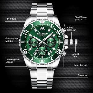 Image 5 - MEGALITH Reloj Hombre 2020 Fashion Casual Watch mężczyźni wodoodporny analogowy 24 godziny data zegarki kwarcowe sport Chronograph męski zegar