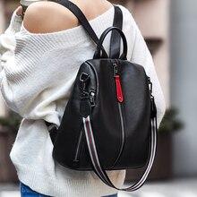 ZOOLER 2020 nowa czarna torba podróżna prawdziwy skórzany plecak kobiety prawdziwej skóry plecaki moda luksusowy plecak torby dziewczyny # HS209