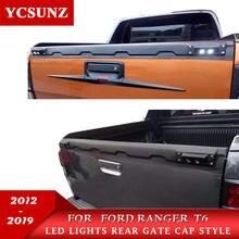 Garniture pour porte arrière de camion avec led, accessoire pour Ford Ranger T6 T7 T8 2012, 2013, 2014, 2015, 2016, 2017, 2018, 2019, 2020, Wildtrak